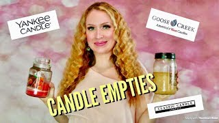 Huge Candle Empties! Including Yankee Candle, Goose Creek, DW Home Candles & More 💜💗💜