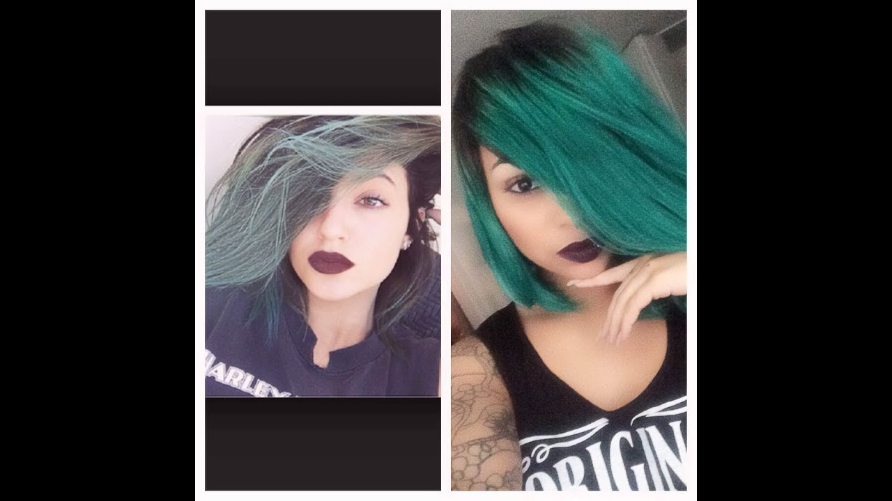 How To Dye Kylie Jenner Inspired Ombre Teal Hair Color