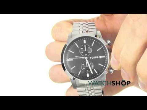 a02c2cac9783 Fossil Men s TOWNSMAN Chronograph Watch (FS4784) - YouTube