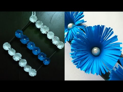Diy paper flower wall hanging /Simple and beautiful wall hanging/Wall decoration by KovaiCraft