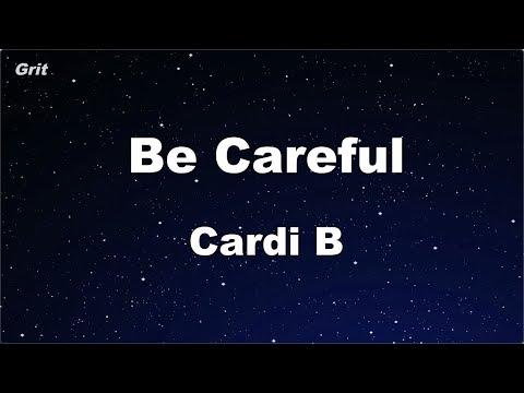 Be Careful - Cardi B Karaoke 【No Guide Melody】 Instrumental