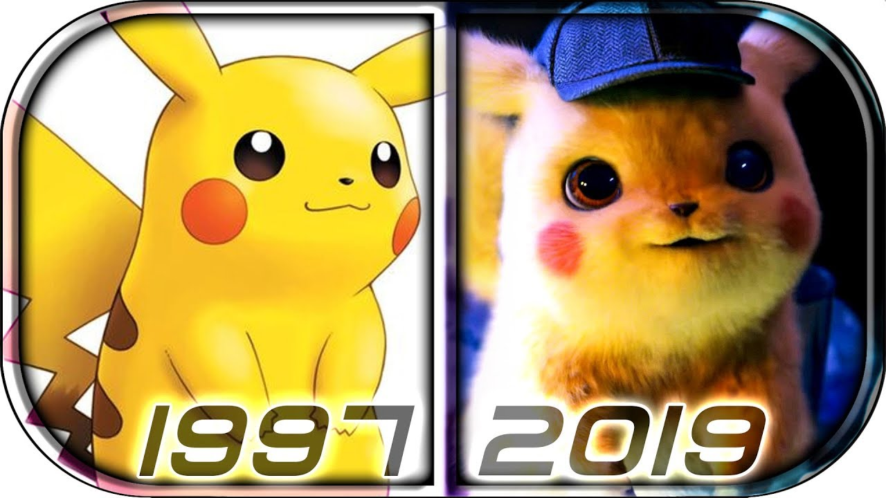 Evolution Of Pikachu In Movies And Anime Tv Series 1997 2019
