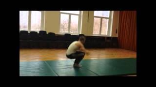 Видео урок Уналбаевой С В  ГБОУ Школа №1103 ЮЗАО гимнастика   элемент стойка на руках, кувырок впере