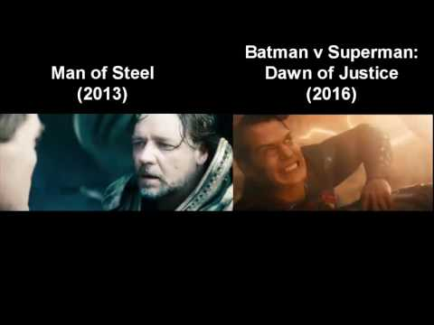 Death of Jor-El and Death of Superman - Comparison