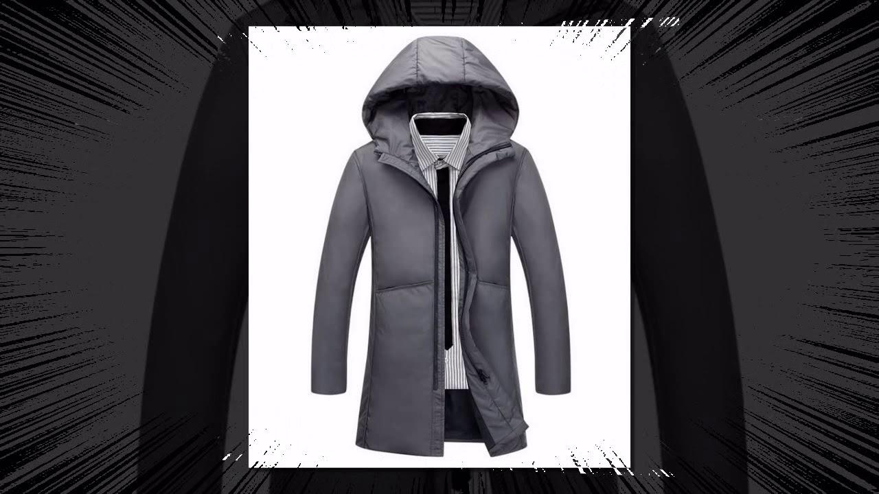 Модные Длинные теплые зимняя куртка Для мужчин водонепроницаемые брендовая одежда мужская