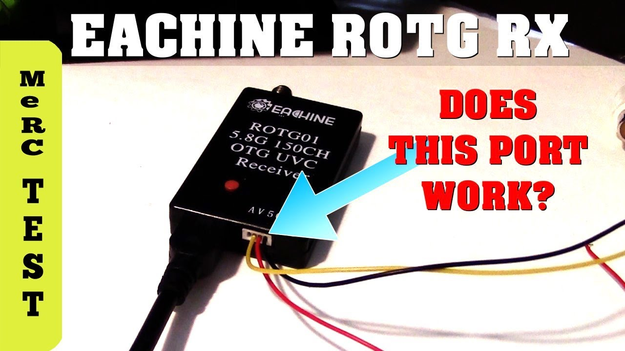 eachine rotg02 rotg01 fpv receiver does av port work what s it for  [ 1280 x 720 Pixel ]