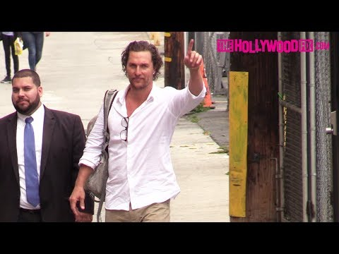Matthew McConaughey Arrives To Jimmy Kimmel Live! Studios In Hollywood 5.21.18