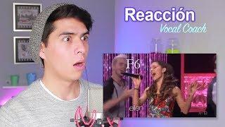 reacción a la voz de silbido de ariana grande vocal coach reacciona vargott