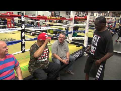 Mayweather Boxing Club does push ups to honor members of the military who have committed suicide