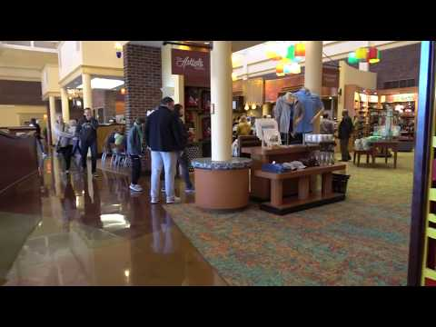 Saratoga Springs in Disneyworld!  Arriving at lobby and touring around