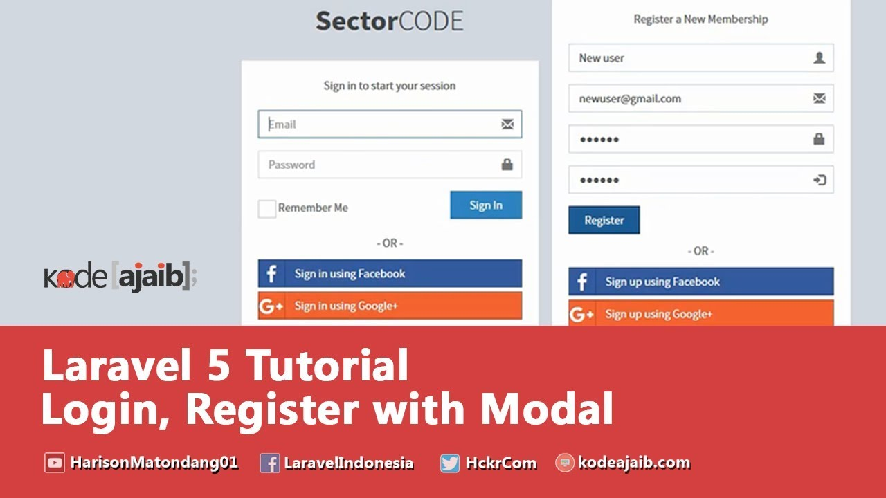 LARAVEL 5 5 Create Login & Registration Form with Modal Popup in Laravel 5