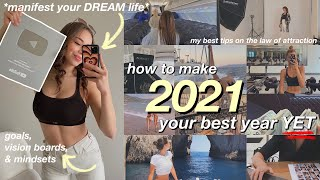 how to make 2021 your BEST YEAR YET. *mindset, mentally glowing up, manifesting, & vision boards*