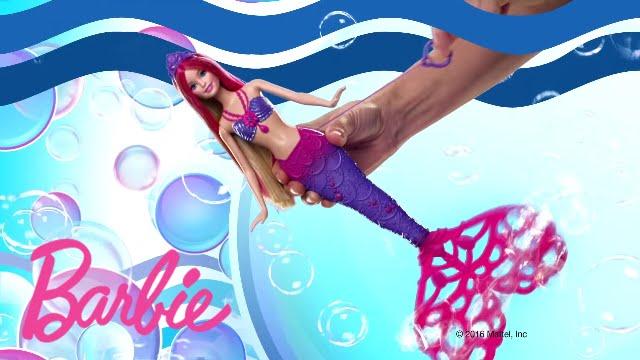 Barbie sir ne bulles magiques barbie youtube - Barbie sirene magique ...