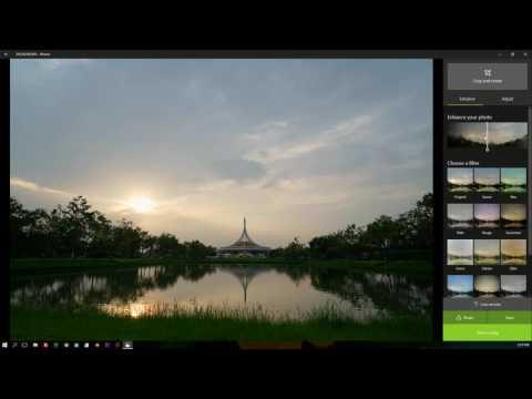 รีวิวแนะนำโปรแกรมแต่งรูป App Photo ที่มากับ window10 Free