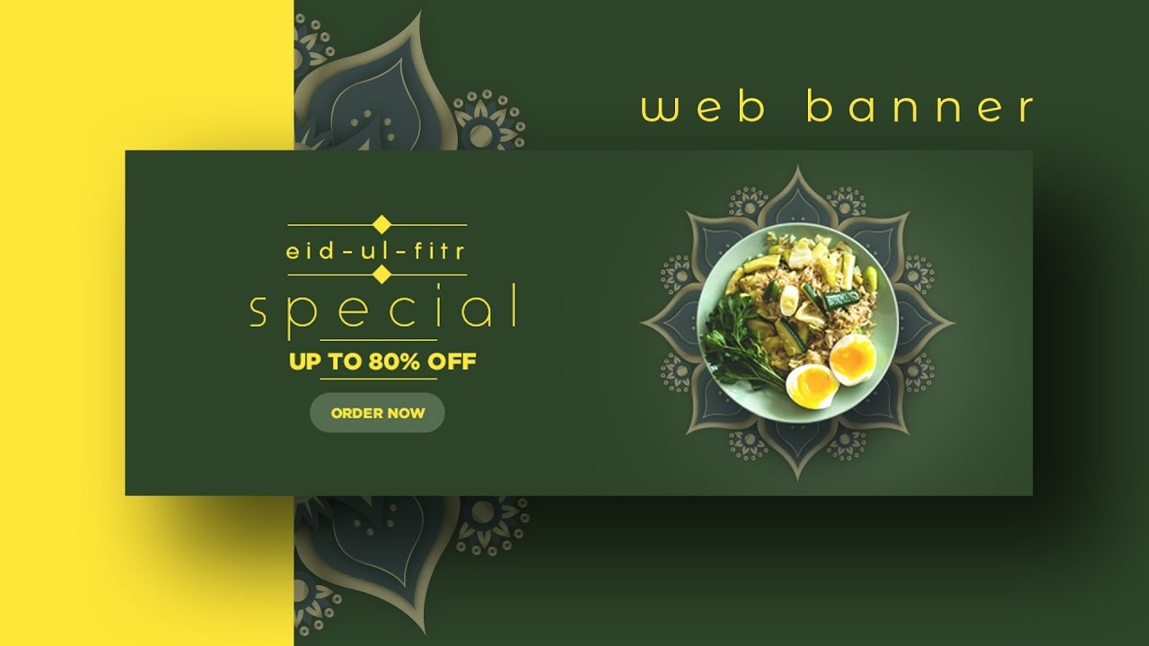 Web Banner Design For Immune Booster Photoshop Youtube