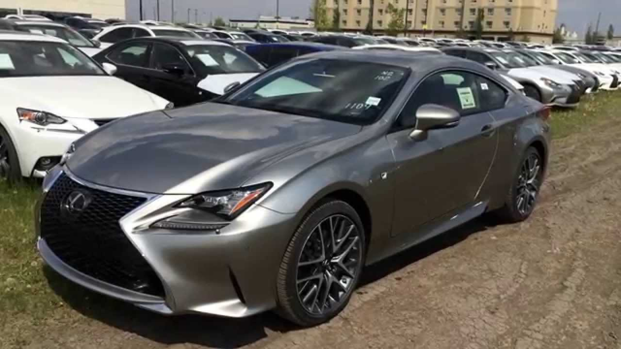 New Atomic Silver On Red 2015 Lexus RC 350 AWD F Sport Series 2 Review |  Lexus Of Edmonton New   YouTube