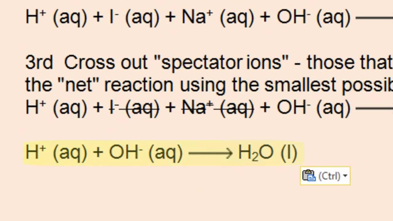 Net Ionic Equations - Acid-Base, PPT, Gas Forming : Doovi