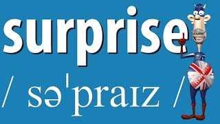 How to Say Surprise | British Pronunciation | Learn English
