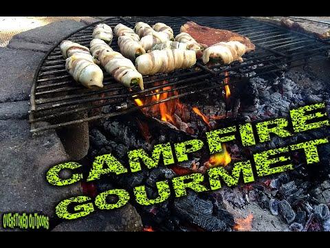 New Series 'Campfire Gourmet' - Bacon-Wrapped, 4-Chz/Chorizo/Bacon Stuffed Jalap's \u0026 Steak Fajita's