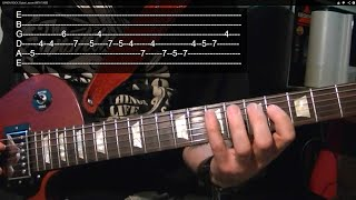Guitar Lesson - MAKE ME DO ANYTHING YOU WANT - Solo ( With Printable Tabs! )