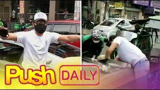 Daniel Padilla, tinulungan ang tricycle driver na nakabangga ng kanyang kotse | PUSH Daily