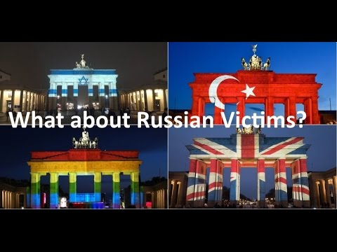 Racist Liberal West disrespects the Terrorist Victims in Saint Petersburg, especially Germany