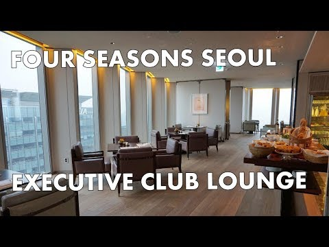 FOUR SEASONS SEOUL - Executive Club Lounge tour (breakfast time!)