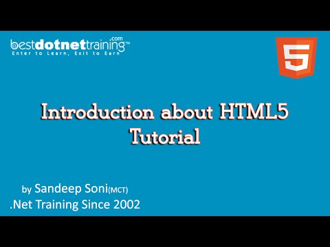 HTML5 Tutorials - 1 - Introduction
