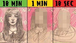 10 МИНУТ / 1 МИНУТА / 10 СЕКУНД - ART CHALLENGE В ТРАДИШКЕ ♥