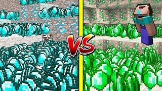 АЛМАЗЫ ПРОТИВ ИЗУМРУДОВ В Майнкрафте! Minecraft Мультики Майнкрафт троллинг Нуб и Про