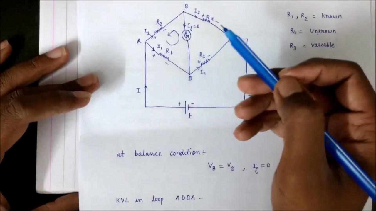Wheatstone Bridge In Hindi Youtube Circuit Diagram Numericals