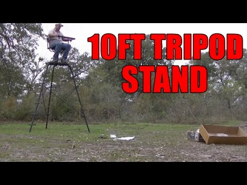10ft Tripod Deer Stand Game Winner Youtube