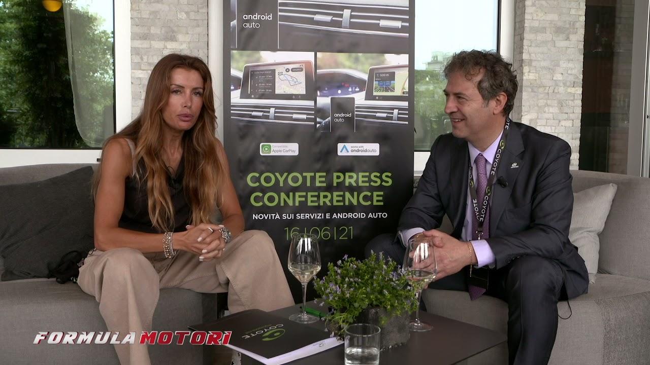 App Coyote conferenza stampa | news 2021 | l'intervista di Tiziana Fait