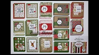 Echo Park's A Perfect Christmas collection- 38 cards from one 6x6 paper pad