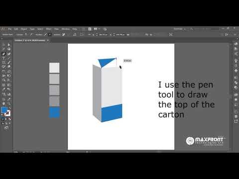 Beginner Tutorial   How to design a carton of milk with Adobe Illustrator thumbnail