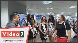 بالفيديو.. ملكات جمال مصر ومنظمة مسابقة ميس إيجيبت فى جولة باليوم السابع