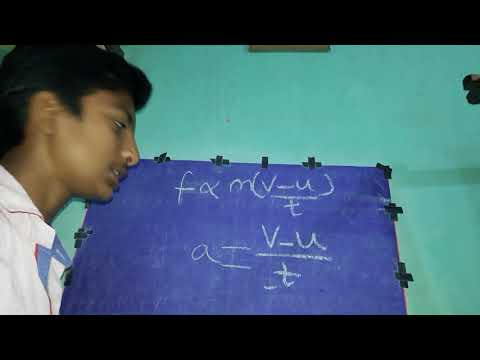 HOW TO DERIVE FORMULA OF FORCE FROM NEWTON'S  SECOND LAW OF MOTION .