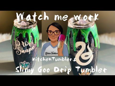 Slimy Goo Epoxy Drip Tumbler| Epoxy Method