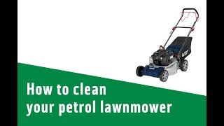 How to clean your petrol lawnmower