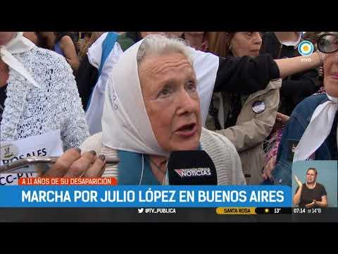 Marcha por Julio López en Buenos Aires
