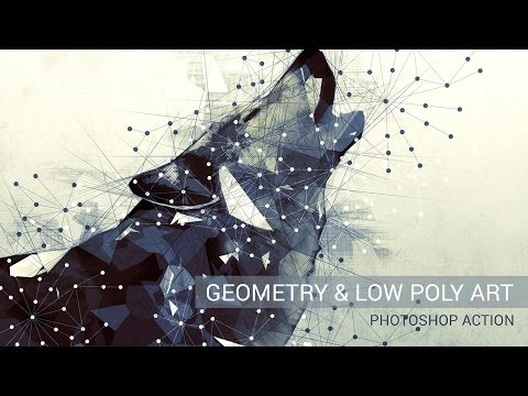 Geometry and Low Poly Art Photoshop Action Tutorial