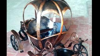 Оригинальная подставка для цветов напольная кованая карета с колесами из металла на 2 цветка горшка(, 2017-06-20T08:15:32.000Z)