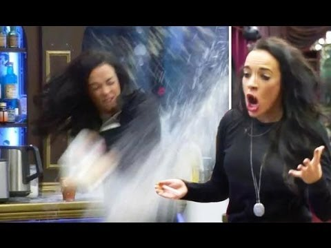 Stephanie Davis Throws Milk Across The Kitchen | Celebrity Big Brother