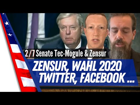 2/7 Vorgeladung Mark Zuckerberg und Jack Dorsey - Deutsch