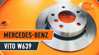 Как да сменим предни спирачни дискове и предни спирачни накладки на MERCEDES-BENZ VIANO W639