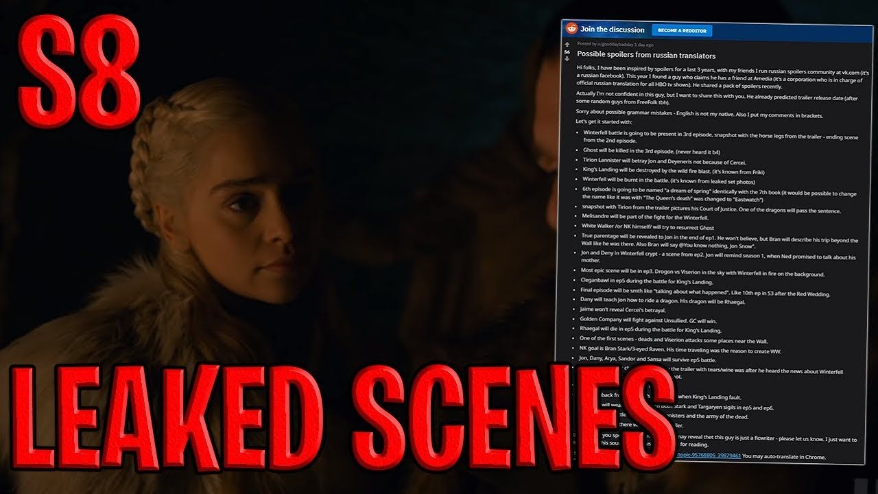 Season 8 Episodes 1-6 Leaked Scenes ! | Game of Thrones Season 8