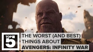 The worst (and best) stuff about Avengers: Infinity War (CNET Top 5) thumbnail