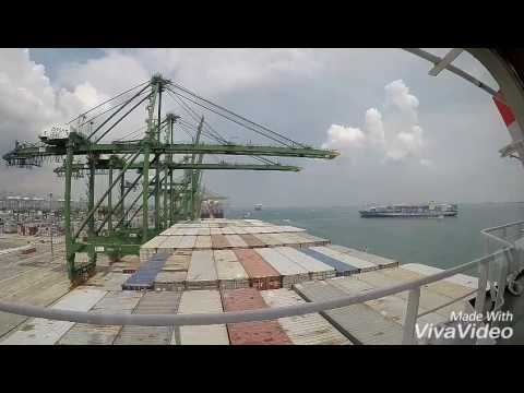 Busy lanes of Singapore port