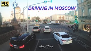DRIVING IN MOSCOW - ARBAT STREET TO RED SQUARE | 4K