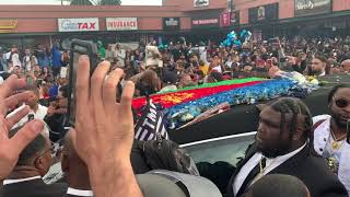 """Nipsey Hussle's Procession """"Victory Lap 🏁"""""""